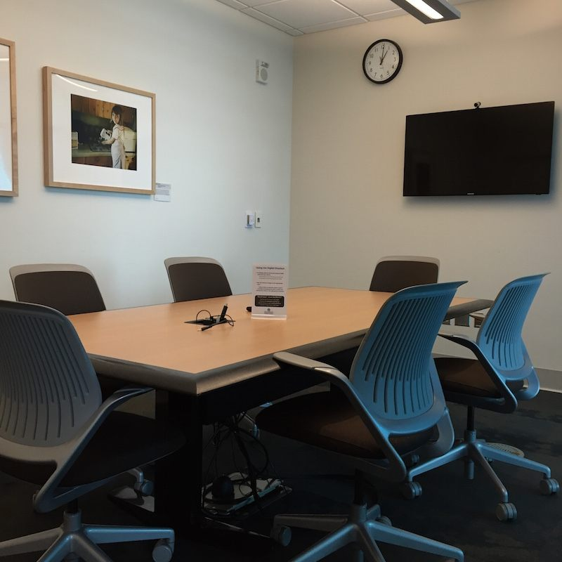 Photo of a conference style study room
