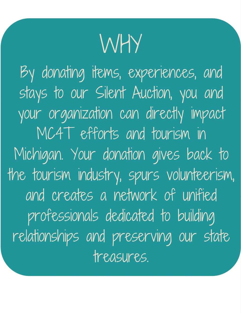 MC4T Silent Auction - The Why