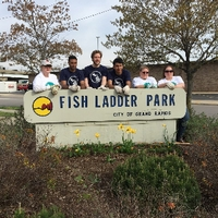 Volunteers at Fish Ladder Park