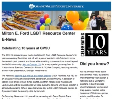 LGBT Resource Center October 2017 E-Newsletter Preview