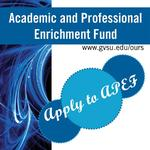 APEF is now taking applications for Jul 1 - Sep 30, 2014 travel
