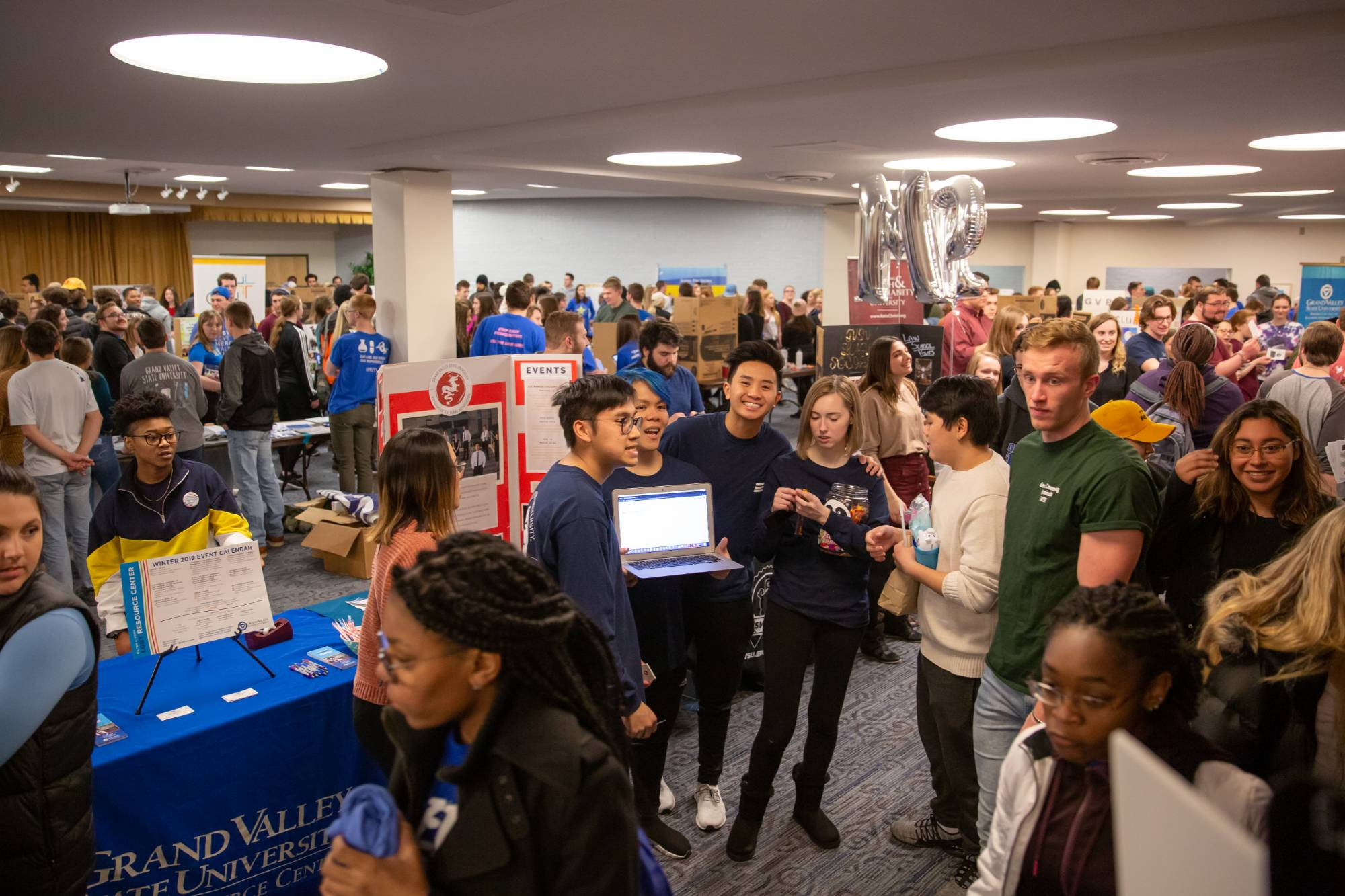 A large crowd at Campus Life Night.