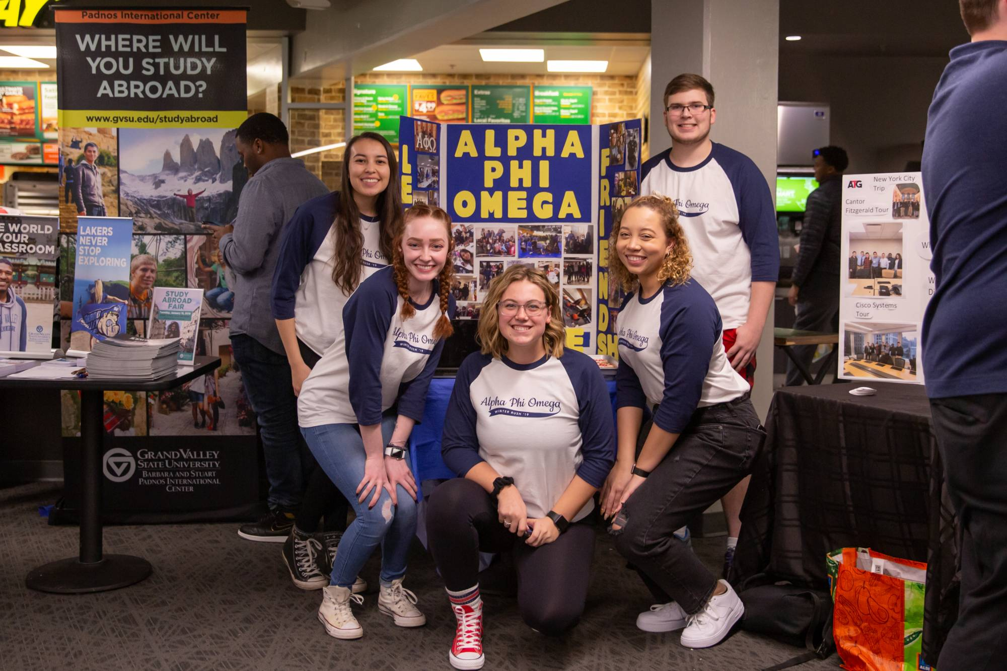 The Alpha Phi Omega booth at Campus Life Night.