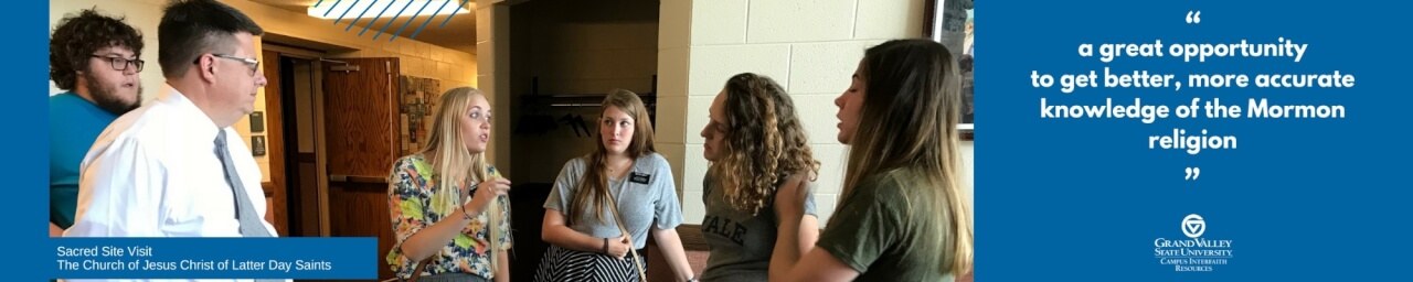 Students discuss religion during a Sacred Site Visit.