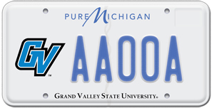 Grand Valley license plate
