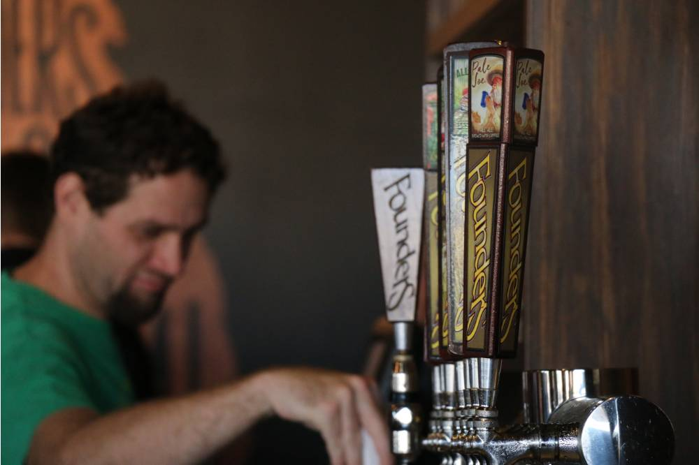 Cold brews on tap at Founders Brewing Co.