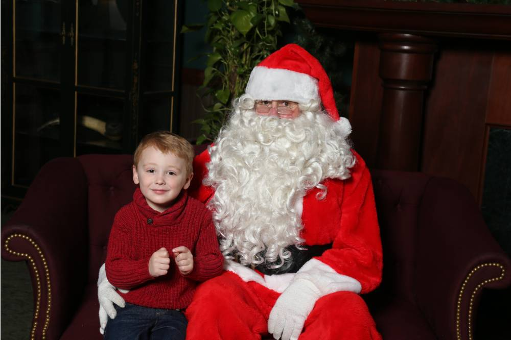 Little Laker poses with Santa