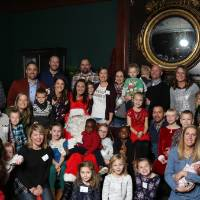 Big Laker group photo with Santa