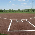 Outdoor baseball diamond