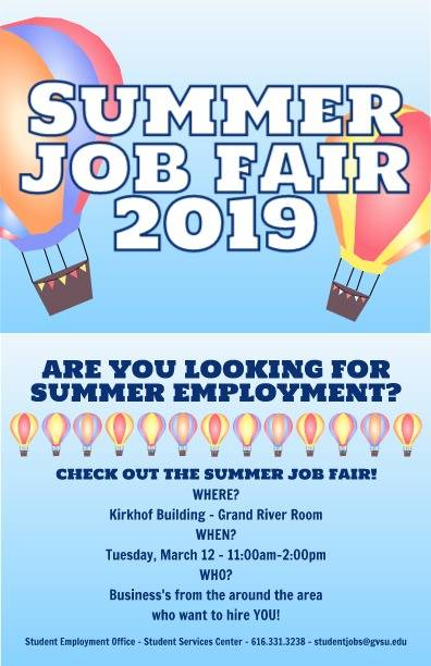 Summer Job Fair 2019