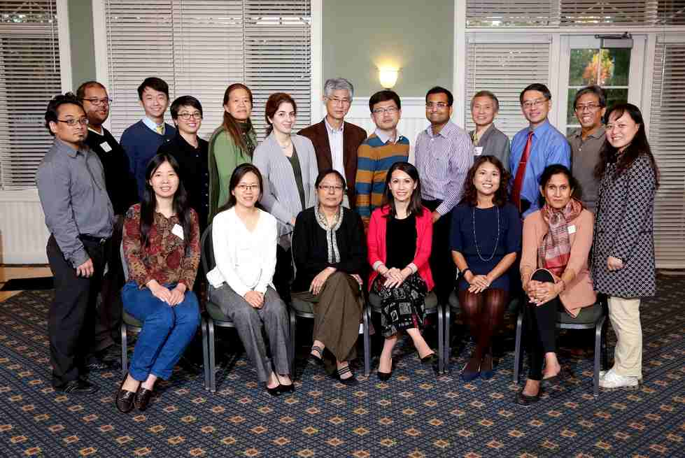 Group picture of Asian Faculty and Staff Inaugural Reception (9/30/2015)