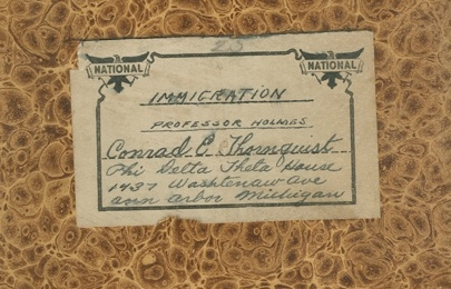 View the Conrad Thornquist papers finding aid