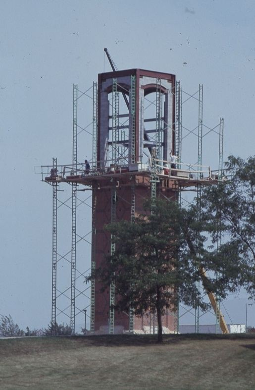 Cook Carillon Tower under construction
