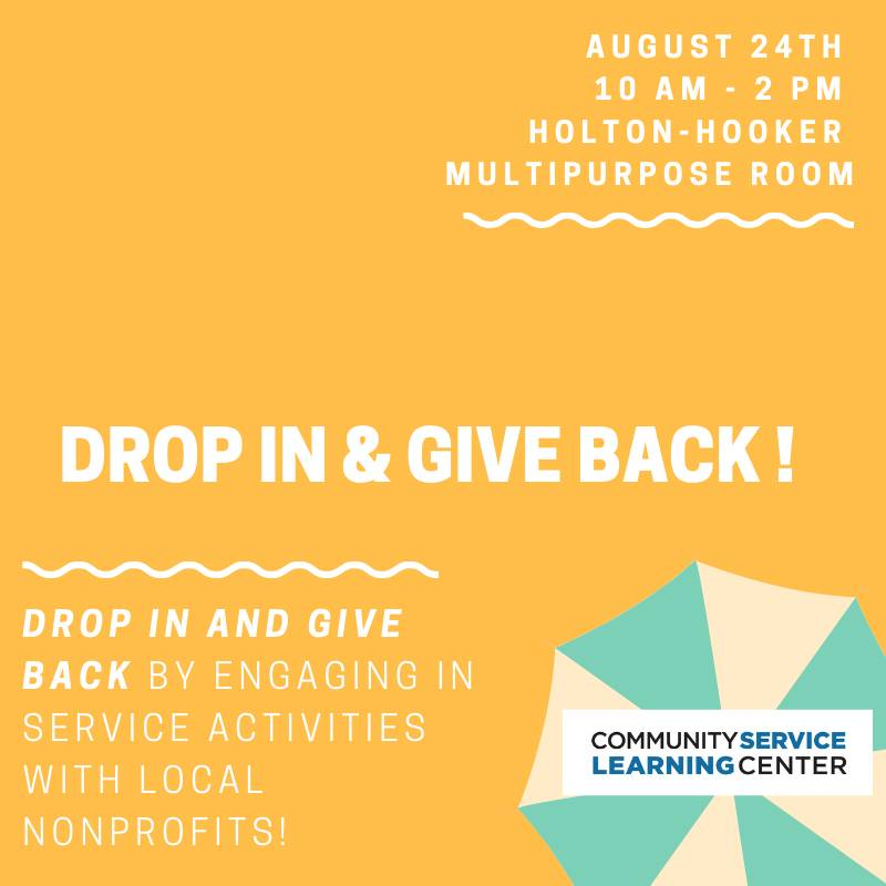 Drop In & Give Back!