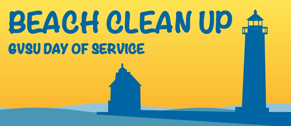 Beach Clean Up GVSU Day of Service logo