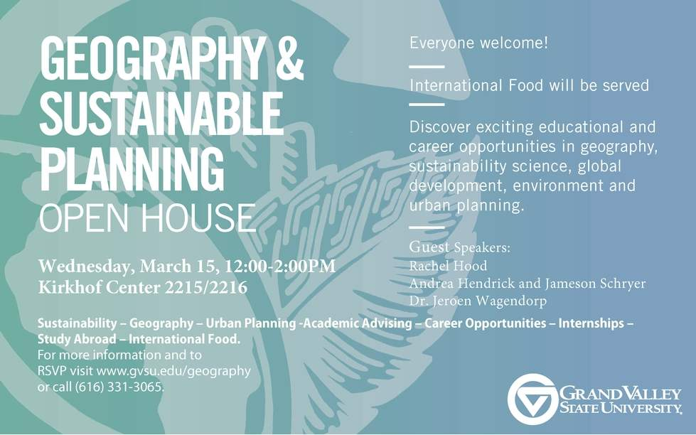 Geography and Sustainable Planning Open House
