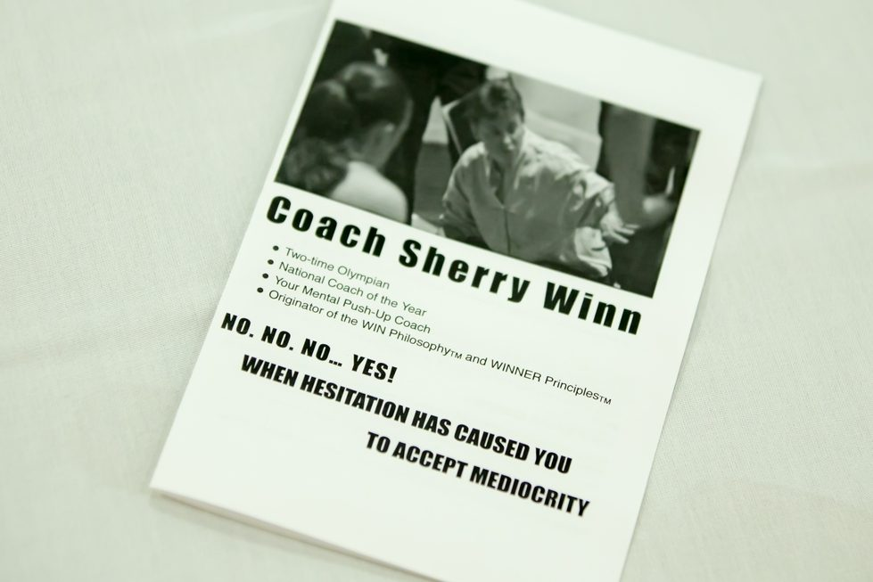Keynote Speaker Pamphlet of coach Sherry Winn