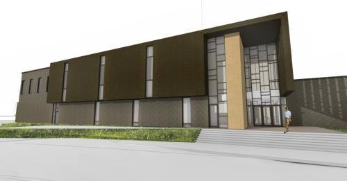 A rendering of the addition to the Performing Arts Center.