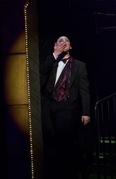 Jake Jager as the Emcee in Cabaret