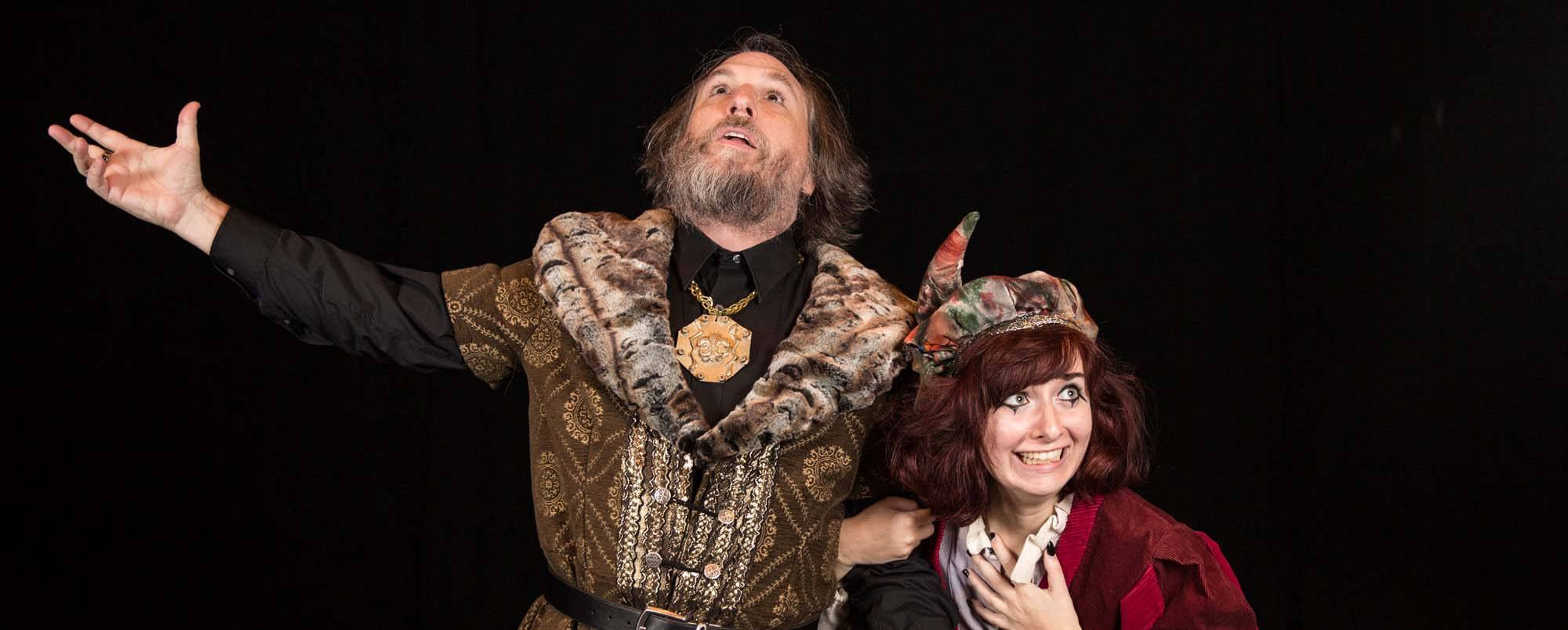 King Lear and the Fool in the 25th anniversary production for the Shakespeare Festival