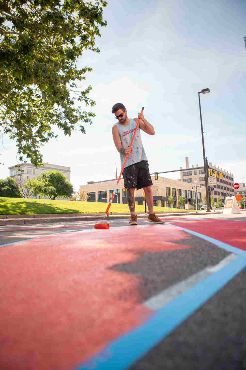 Grand Valley Art alumnus creating Pride-related mural in downtown Grand Rapids