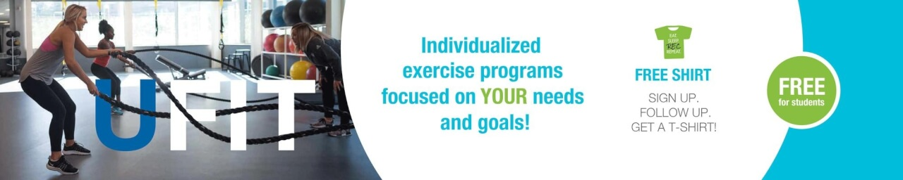 UFit Personal Training is FREE to students!