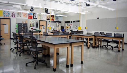 Classroom Web Design ~ Graphic design facilities department of visual media