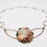 Copper and stone necklace