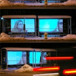 Time Studio Project, Projected video on bus shelters at Fulton and Sheldon, Grand Rapids, MI
