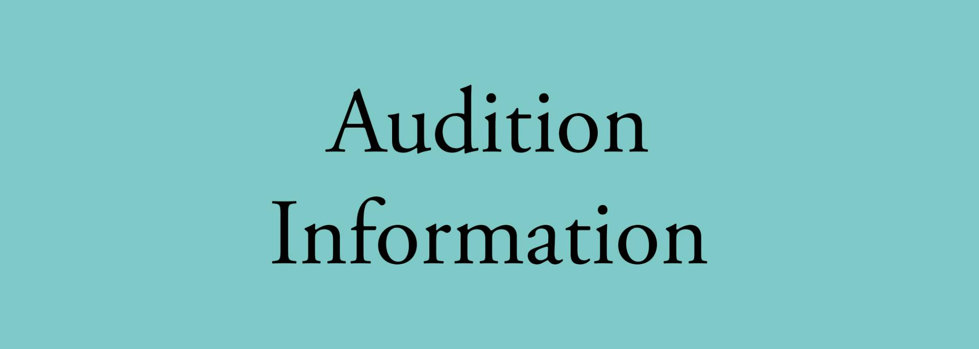 music audition information button