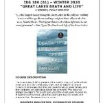 "IDS 180.01 WINTER 2020 ""Great Lakes Death and Life"""