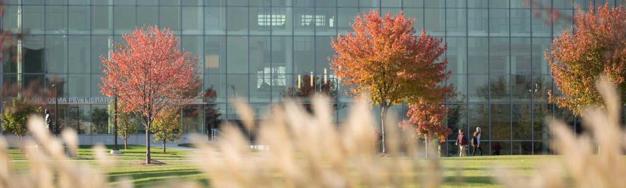Mary Idema Pew Library in Autumn
