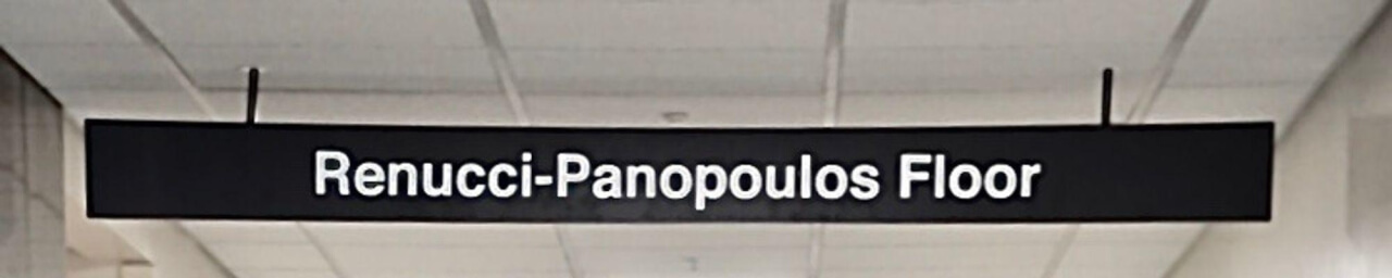 Renucci-Panopoulos Floor Sign