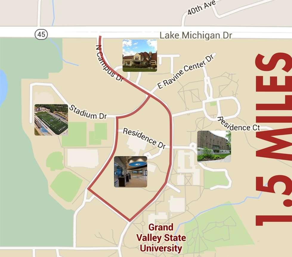 Gvsu Grand Rapids Campus Map.Biking And Walking Routes Health Wellness Grand Valley State