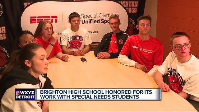 Brighton High School honored by ESPN, Special Olympics