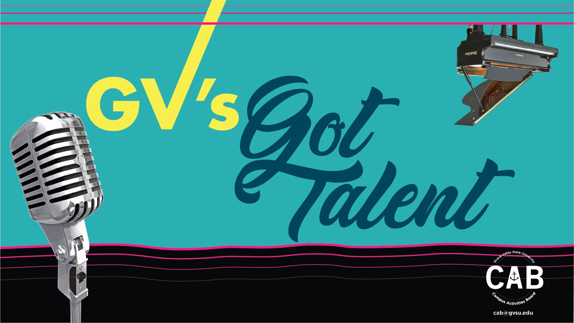 "Microphone and Piano with the words ""GV's Got Talent"""