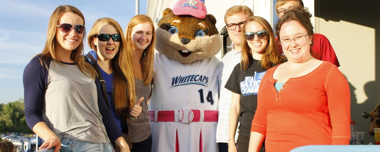 REU group fun at a Whitecaps game