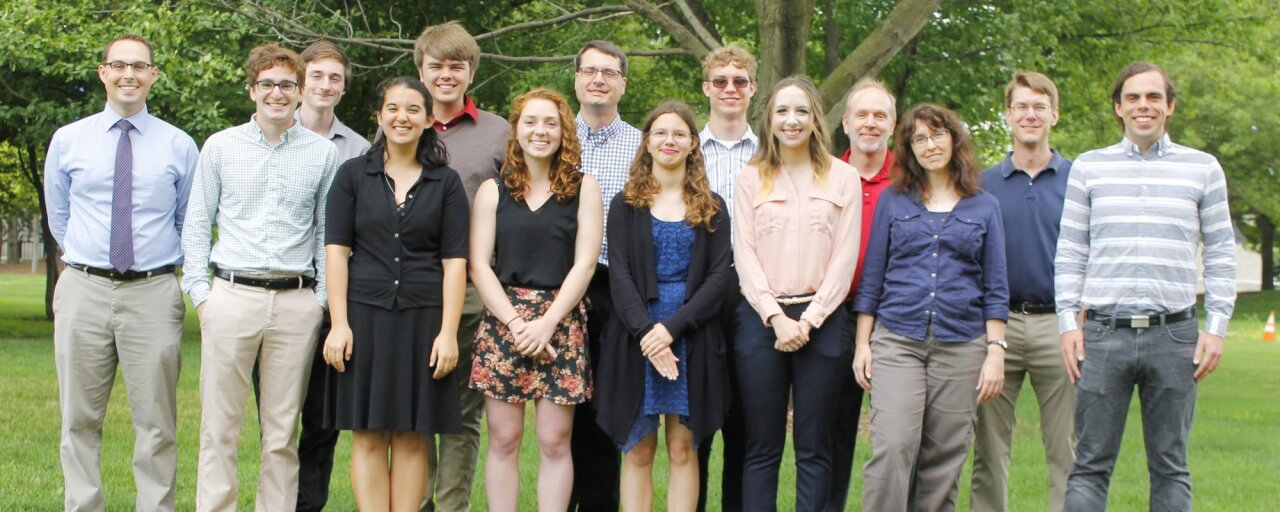 Students at the GVSU REU