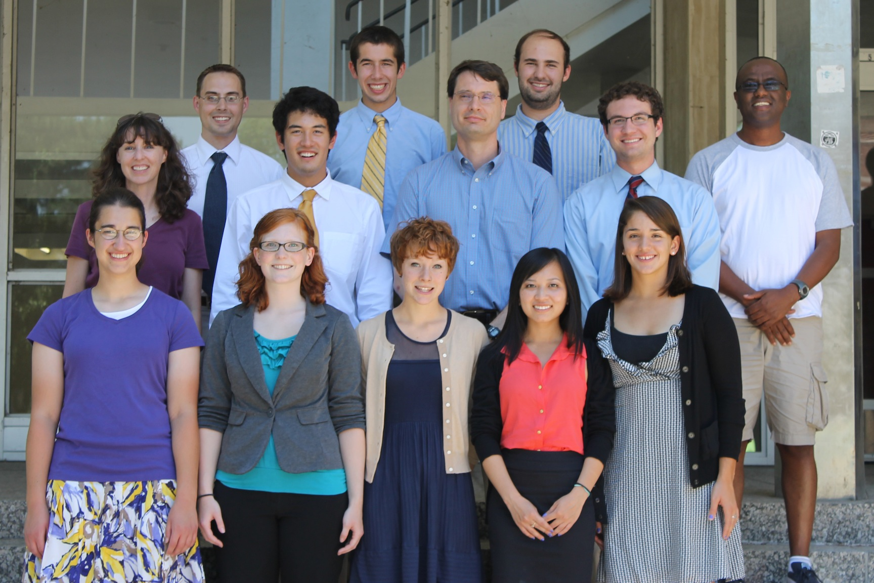 The 2012 REU group at the SUMMR conference at Michigan State University