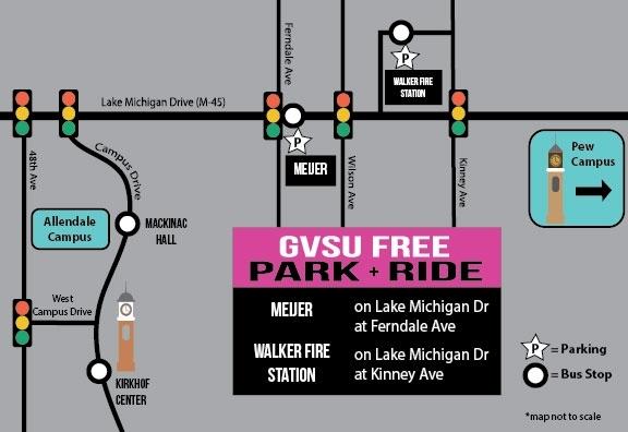 Gvsu Campus Map 2016.Park Ride Gvsu Transportation Services Grand Valley State