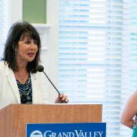 President Philomena V. Mantella and Provost Maria Cimitile answer questions