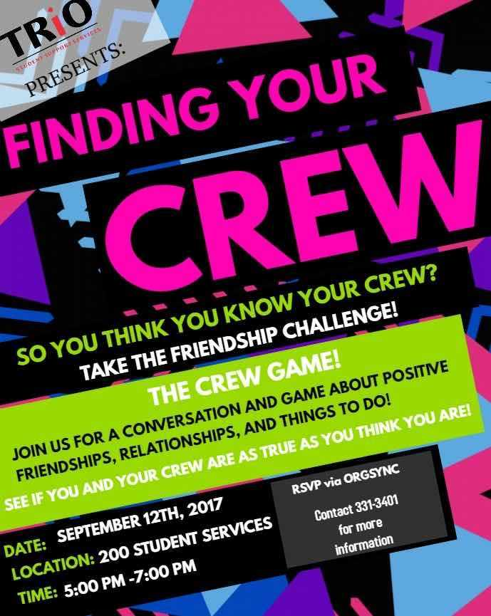 Finding you crew official