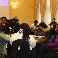 Students enjoying a presentation about grad school at Lincoln University
