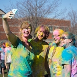 HOLI 2016 four students posing for selfie