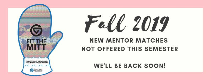 Fall 2019 Fit the Mitt Mentor Info Session & Training