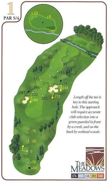 Yardage Book - The Meadows - Grand Valley State University