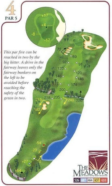Michigan State Campus >> Yardage Book - The Meadows - Grand Valley State University