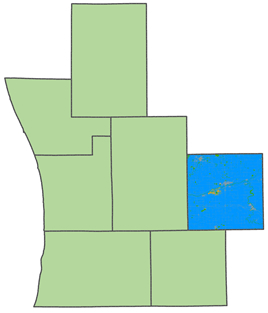 Map highlighting Ionia County