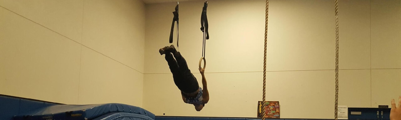 person performing acrobatics