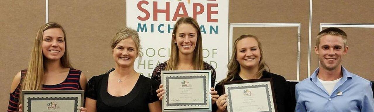 SHAPE MI Award Recipients